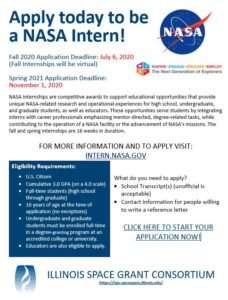 NASA Intern Flyer